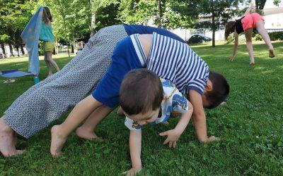 Yoga en famille à Namaste, octobre 2020
